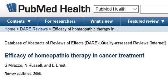 Este estudo demonstra que pacientes com câncer parecem ter se beneficiado de medicamentos homeopáticos, especialmente para radiodermatite, eventos adversos da radioterapia e quimioterapia.