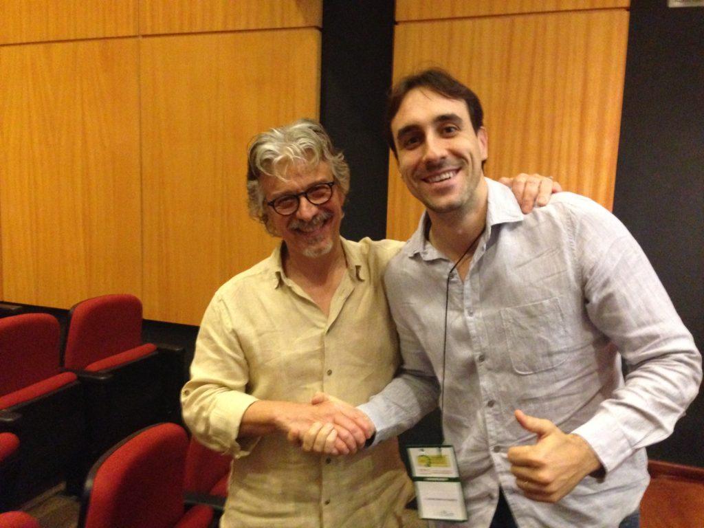 Eu e o Dr. Maximo Mangialavori - Congresso da Associação Paulista de Homeopatia - 2016